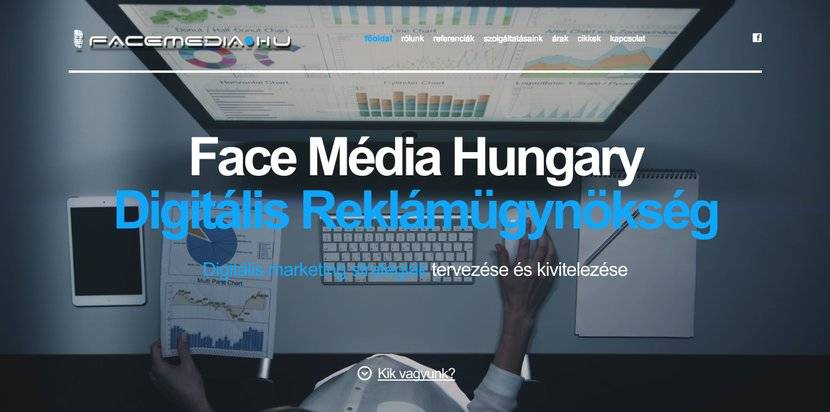 Face Média ügynökség nyitóoldala