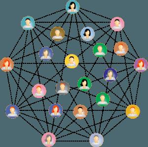 grafika: közösségi hálózat