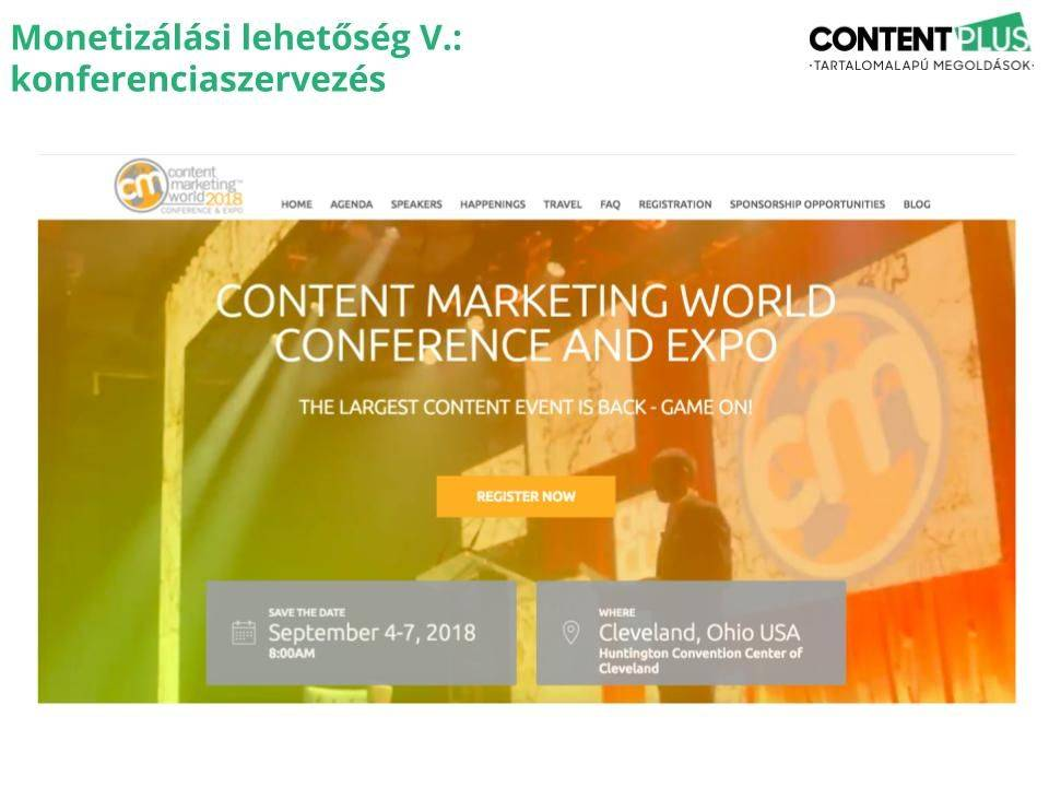 Content Marketing World landingoldala