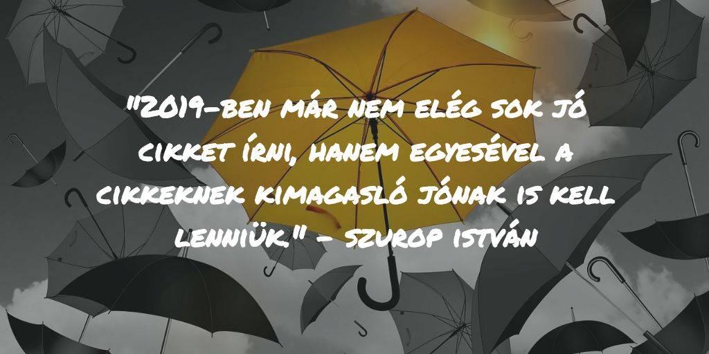 Fekete esernyők az égben, egy sárga, kiemelkedő kivételével