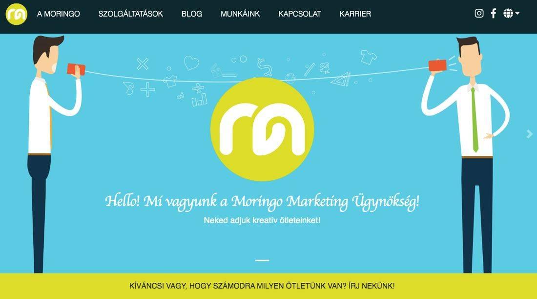 Moringo online marketingügynökség grafikus nyitóképe