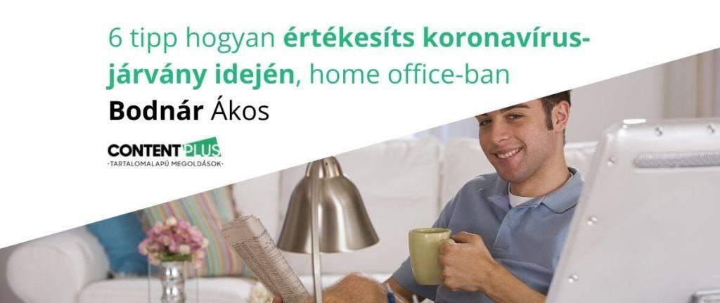 B2B értékesítő koronavírus alatt, home office-ban dolgozik