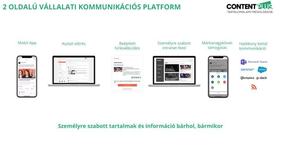 Külső és belső kommunikáció mobilon, desktopon rengeteg kommunikációs csatornáról