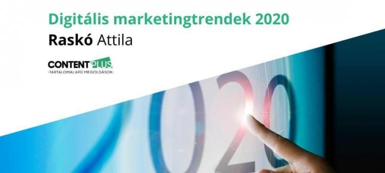 Digitális marketingtrendek 2020