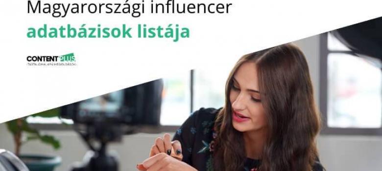 Magyarországi influencer adatbázisok gyűjteménye