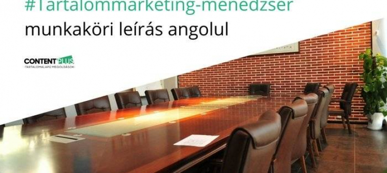 Content Marketing Manager job profile in English