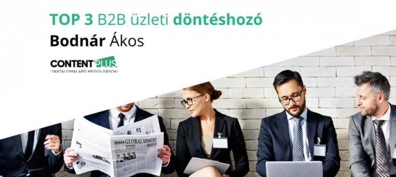 TOP 3 B2B üzleti döntéshozó